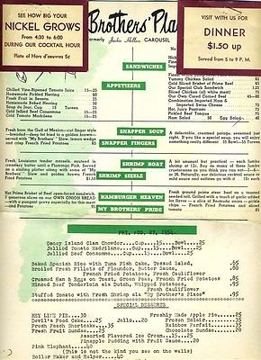My Brothers Place >> Amazon Com My Brother S Place Menu 1954 Pittsburgh