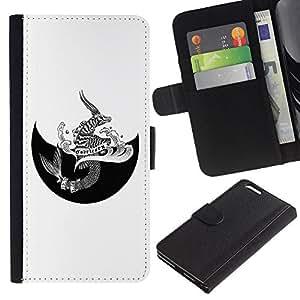 ARTCO Cases - Apple Iphone 6 PLUS 5.5 - Horoscope Zodiac Capricorn Tattoo Unique - Slim PU Leather Wallet Credit Card Case Cover Shell Armor