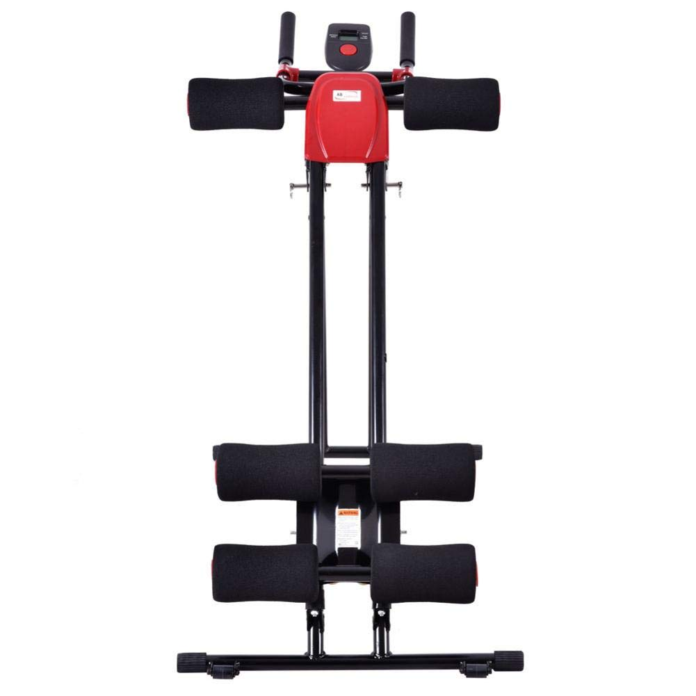 Rainrain27 Straight Linear Type Powerful Private Fitness Club Abdomen Exerciser Vertical Abdominal Machine Beauty Waist Machine for Office Home Black and Red by Rainrain27 (Image #4)