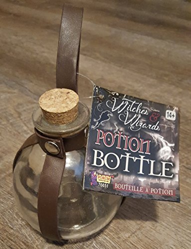 ROCKYMART Glass Potion Bottle - Witch And Wizard Spell Magic Costume Accessory Halloween Decor]()