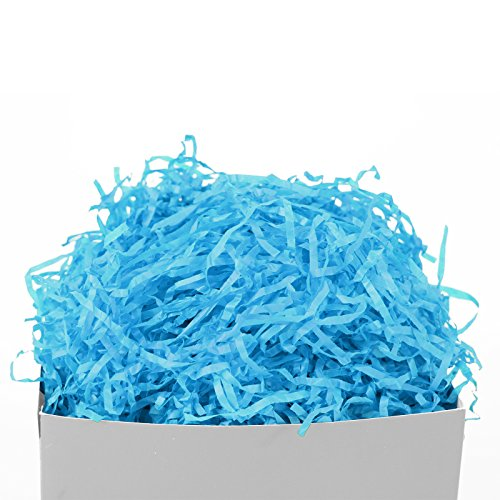 GIFT EXPRESSIONS Aqua Paper Shred for Gift Package filler and kraft (Aqua), Cut Paper Filler for Gift Wrapping & Basket Filling, Perfect for Stuffing Gift Bags