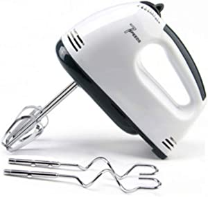 LUSHUN Electric Mixer - 7 Gear Adjustable Stainless Steel Electric Egg Beater, Classic Hand and Stand Mixer, with 2 Whisks Hand Blender for Coffee, Milk, Egg, Drink