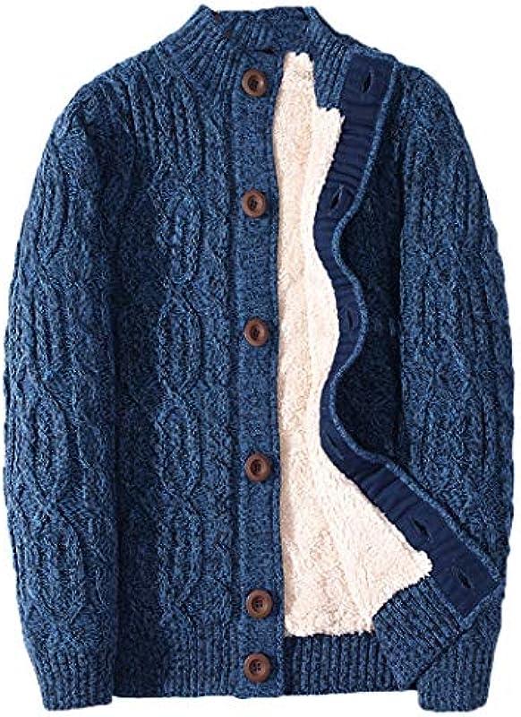 HOLEVSTY Winter Cardigan Verdicken Warme Wolle Kaschmir Winter Sweater Męskie Kleidung Outwear Plus Size: Odzież