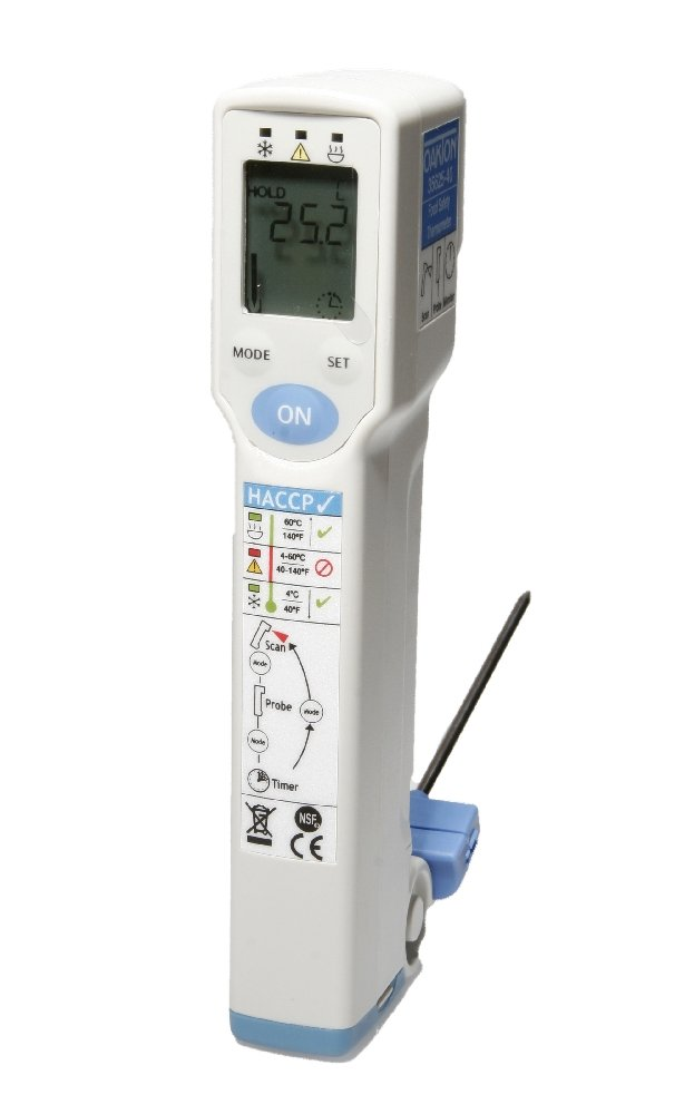 Oakton WD-35625-40 Food Safety IR Thermometer, -35 to 275°C, 1-1/4'' W x 6-1/2'' H x 2'' D