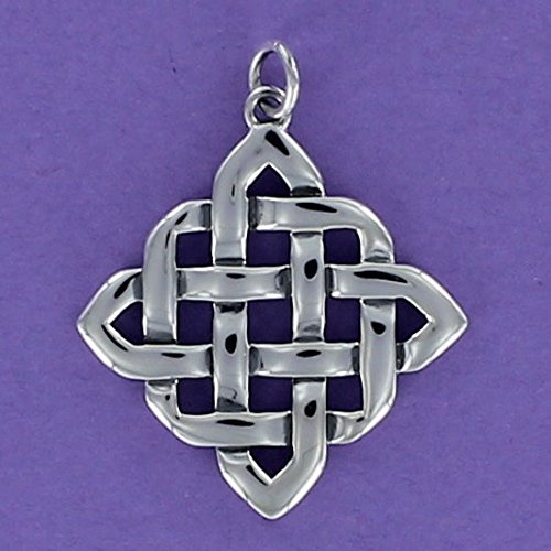 Celtic Knot Square Charm Sterling Silver for Bracelet Friendship Infinity Irish - Jewelry Accessories Key Chain Bracelets Crafting Bracelet Necklace Pendants