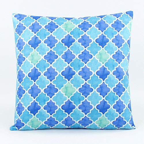 Tutti Frutti Quatrefoil/Stripes Decorative Handmade Pillow Cover, 18x18