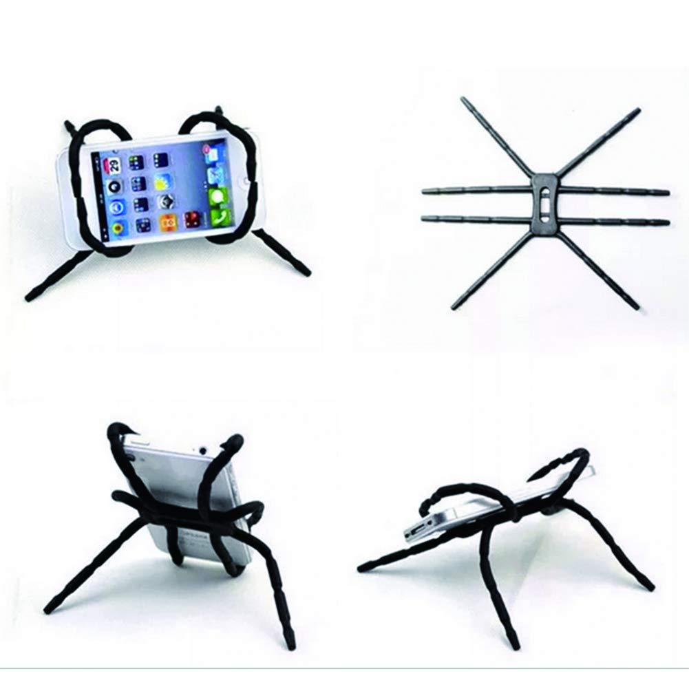 Samsung S6 S7 S8 LAMEIDA Support de T/él/éphone Araign/ée Flexible pour Voiture Compatible avec iPhone X 8 7 6 6 Plus 5 5 s Huawei