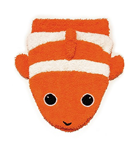- Organic Cotton, Washcloth Mitt Clownfish Puppet, Large by Furnis