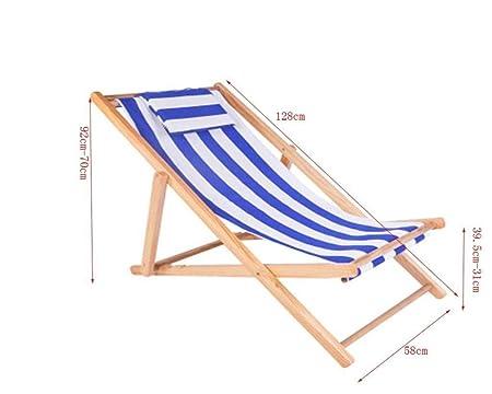 Sdraio Da Spiaggia In Legno.Jxxddq Sdraio Da Spiaggia Pieghevole In Legno Da Giardino Lettino