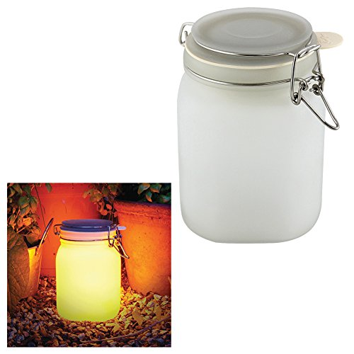 Yellow Solar Sun Jar Lamp in US - 5