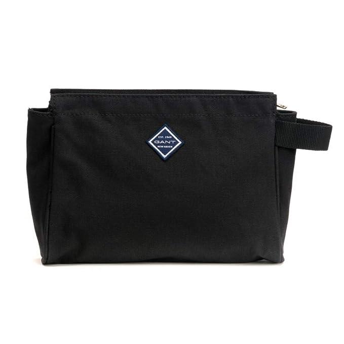 e271b325f41 GANT Mobilize Mens Wash Bag Black One Size: Amazon.co.uk: Clothing