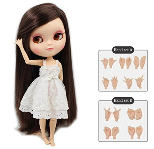 Dream fairy ICY dolls Fortune Days Toys 12 inch nude doll with natural skin and small breast joint body like blythe. (280BL0222, 30cm)