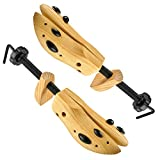 Professional 2-Way Wooden Shoe Stretcher, Deluxe Wooden Shoe Tree for Men or Women, Size Large, 1 Pair