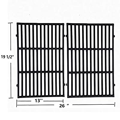 """Sente Grill Grates Replacement for Weber 7524, Weber Genesis E-310, E-320, E-330, S-310, S-320, S330, ESP-310, ESP-320 and Others, 2-Pack Porcelain-Enameled Cast-Iron Cooking Grid(19.5"""" x12.9"""" x0.5"""")"""