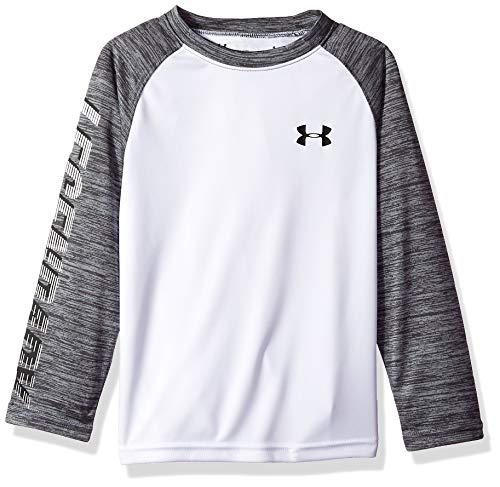 - Under Armour Boys' Little Logo Raglan Tee Shirt, Legendary White, 4