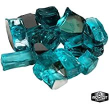 Midwest Hearth Tropical Blue Reflective Fire Pit Glass 1/2-Inch (10-Pound Jar)