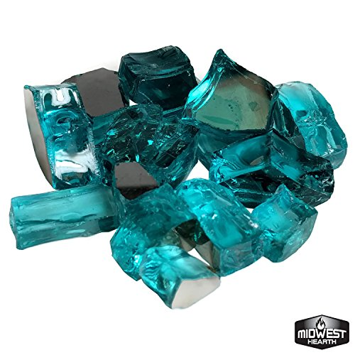 Tropical Blue Reflective Fire Pit Glass 1/2