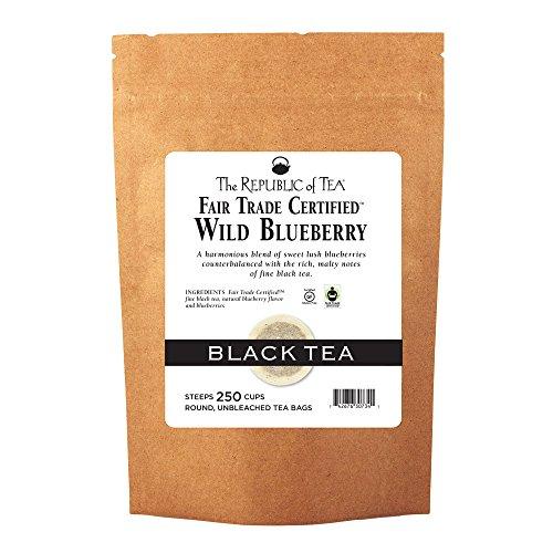 The Republic Of Tea Wild Blueberry Black Tea, 250 Tea Bags, Rich Natural Blueberry Fine Black Tea (Tea Wild Blueberry Black)