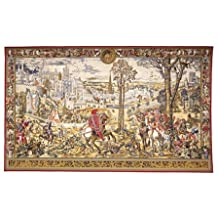 Tapestry, Extra Large, Wide - Elegant, Fine, French & Wall Hanging - Medieval Brussels, A-H108xW186