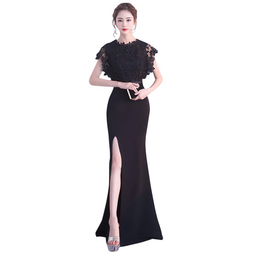 5  Drasawee Women's Graceful Lace Bridesmaid Dresses High Split Homecoming Dresses