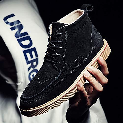 Shukun Herren Stiefel Martin Stiefel Herren High-Cut Herbst Retro Casual Schuhe Mode Werkzeug Schuhe Stiefel