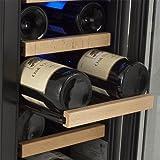 edgestar cwr181sz 12 inch wide 18 bottle built in wine cooler black stainless steel