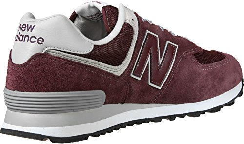New Balance Herren Ml574E Sneaker, burgundy