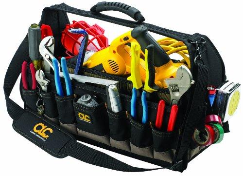 Soft Sided Tool Box - CLC Custom Leathercraft 1532 25-Pocket, 18-Inch Soft Sided Carpenters Tool Box