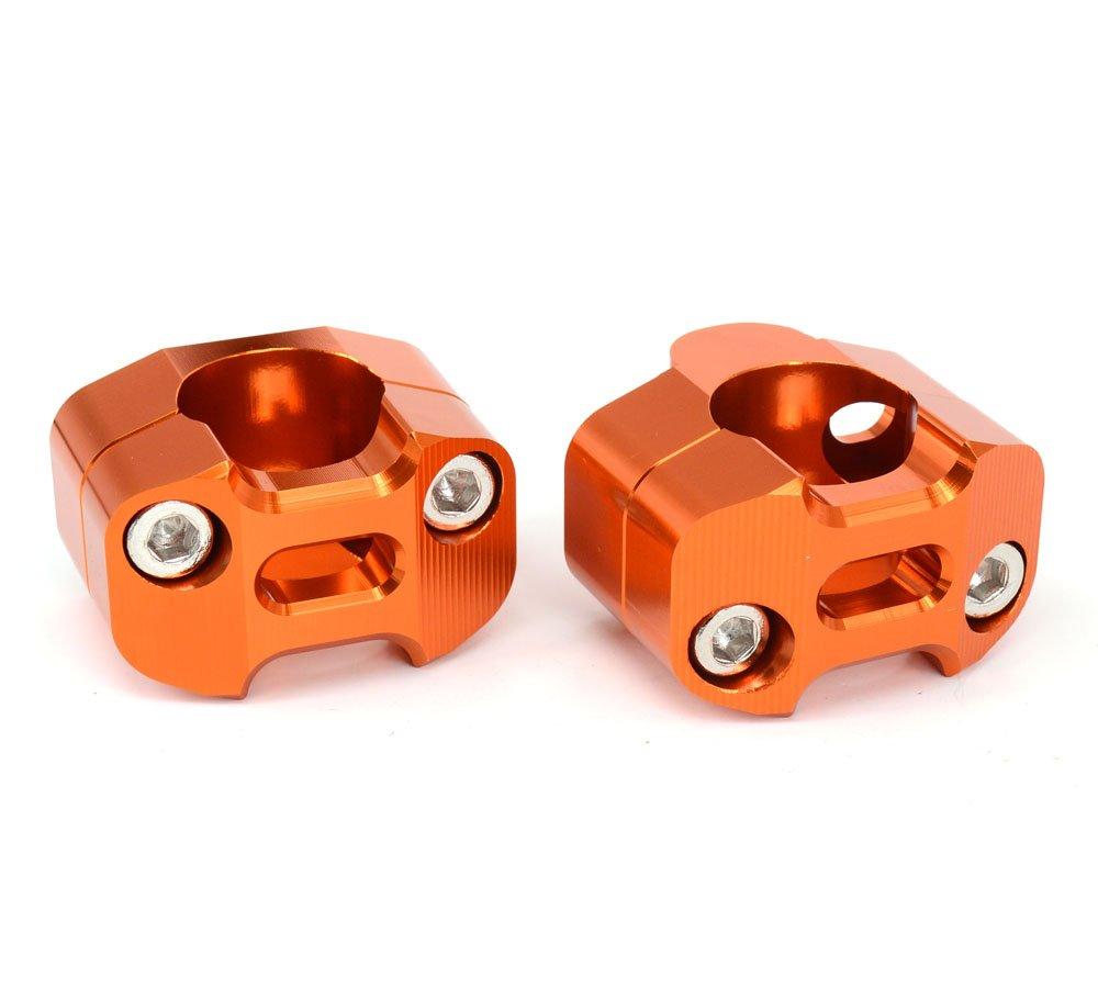 Coppia moto 1 1//8CNC manubrio montante per riser adattatore morsetto 7//8 scambio 1 1//8 titanio