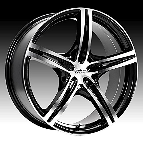 Cruiser Alloy Eclipse 15 Machined Black Wheel / Rim 5×100 & 5×4.5 with a 40mm Offset and a 73.1 Hub Bore. Partnumber 917MB-5751840