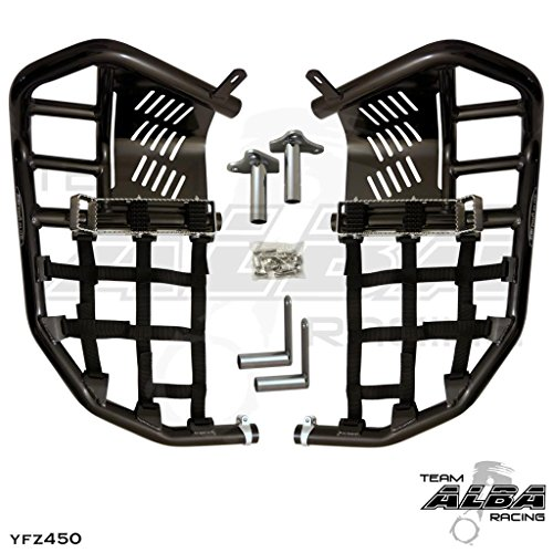 Yamaha YFZ 450 (2004-2009) (2012-2013) Propeg Nerf Bars Black Bars w/ Black (Nerf Bars Black Nets)