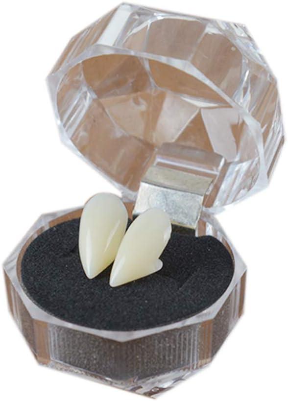 13mm Case/&Cover 1pair Zanne del Vampiro Costume Zanne Partito Protesi Denti Falsi per Halloween Cosplay Puntelli del Partito