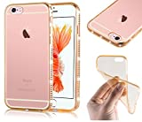 Iphone De Apple 6s Best Deals - Cadorabo - TPU Ultra Slim Diamond Silicone cover for Apple iPhone 6 PLUS / 6S PLUS - Etui Cover Protection Bumper Skin in DIAMOND-GOLD