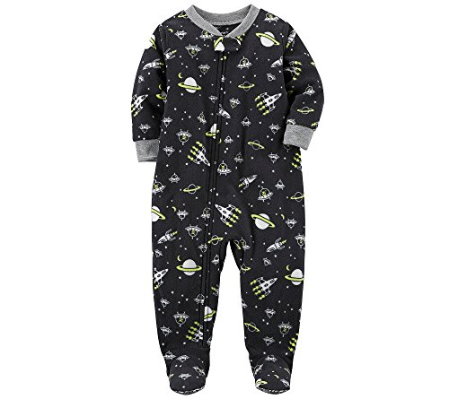 ffefd317d Galleon - Carter s Boys  12M-10 Space Fleece Pajamas Black 4T
