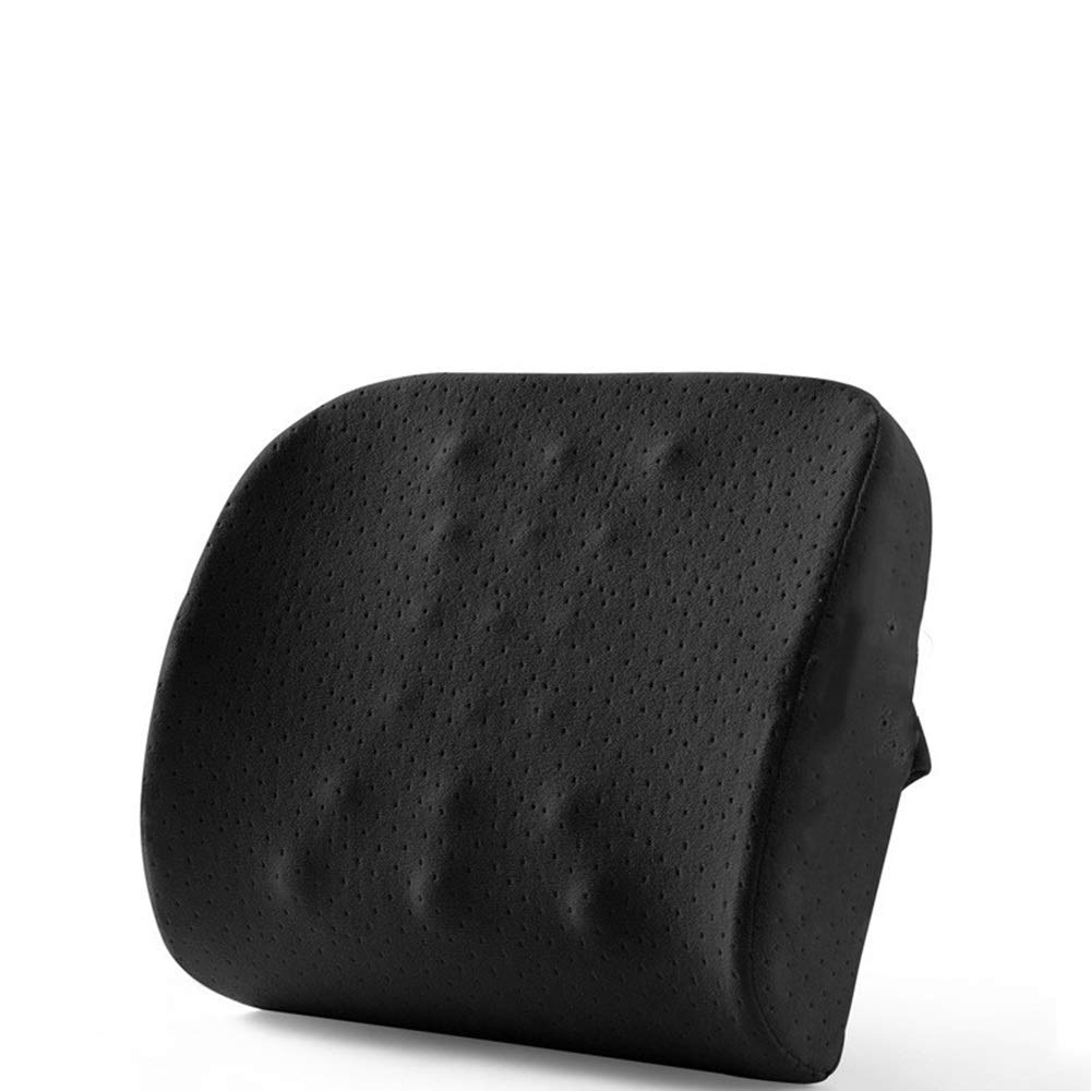 TTVUSGDW Office Pillow Slow Rebound Memory Cotton Comfortable and Breathable Zipper Design Easy to Disassemble and Clean Backrest (Color : Black(Double Side Pocket), Size : 40CM) by TTVUSGDW