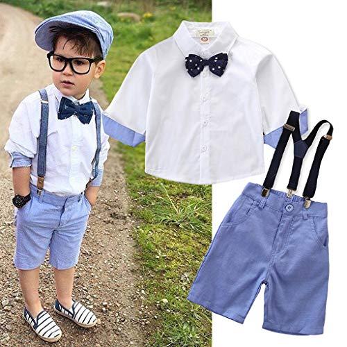1cb6af181 Amazon.com: DORIC 2019 2PC Toddler Kids Baby Boys Newborn Outfit Clothes  Shirt+Shorts Pants Gentleman Party Suit: Clothing
