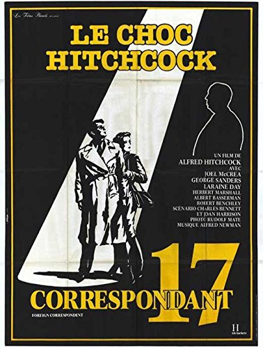 George Herbert Christmas - Foreign Correspondent Poster Movie B 11x17 Joel McCrea Laraine Day Herbert Marshall George Sanders