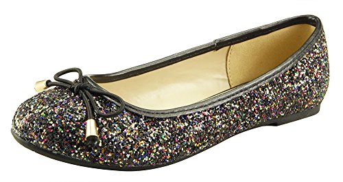 The Doll Maker Elastic Bow Glitter Flat-FBA183006W-2]()