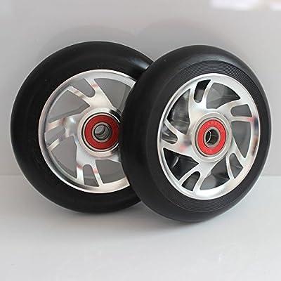 2M de roues de scooter Freestyle de 100mm88a ABEC-9Jante en aluminium couleur argent