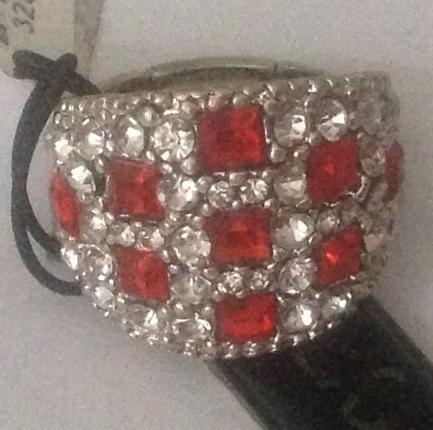 Ruby Lane Jewelry - Ruby and Diamond Costume Ring
