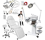 11-in-1 Elite Series Multifunction Diamond Microdermabrasion Facial Machine & Adjustable Stationary Bed Table Chair Salon Spa Beauty Equipment