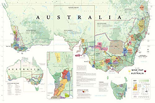 (De Long Wine Map of Australia)
