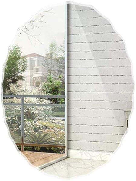 Specchio Ovale Senza Cornice Bagno Mirror Specchio Specchio a Parete Camera da Letto Orizzontale e Verticale