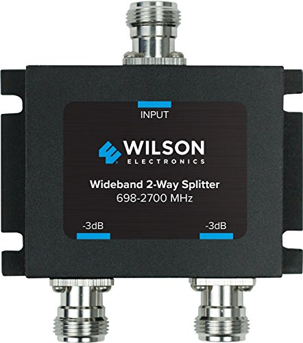 - Wilson Electronics 3 dB 2-Way Splitter: N-Female - 50 Ohm (859957)