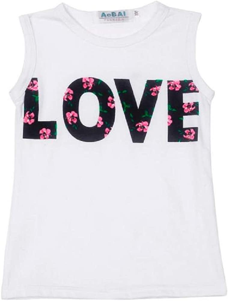 Summer Sunsuit Fartido Outfit Set Baby Girls Sleeveless Love Alphabet Girls Set Fashion Playsuit