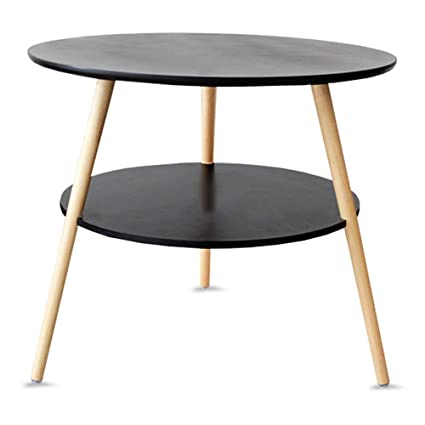 Cool Amazon Com Gwdj Side Table Solid Wood Mini Stable 2 Layer Machost Co Dining Chair Design Ideas Machostcouk