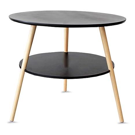Astonishing Amazon Com Gwdj Side Table Solid Wood Mini Stable 2 Layer Machost Co Dining Chair Design Ideas Machostcouk
