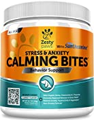 Zesty Paws Calming Bites are an advanced chewable supplement with natural and organic ingredients that have been shown to help dogs reach a calm and relaxed state of mind.  This formula contains Suntheanine, a pure form of L-Theanine that hel...