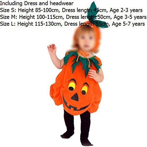 Costume Pumpkin COutfits Toddler Halloween Dress Cute Clothing Set,Pumpkin Style 1,7Th