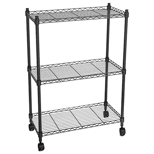 Rolling Tire Storage Rack >> Homdox 3-Tire Heavy Duty Shelves Storage Organizer Wire Shelving Unit Rolling Cart Rack with ...
